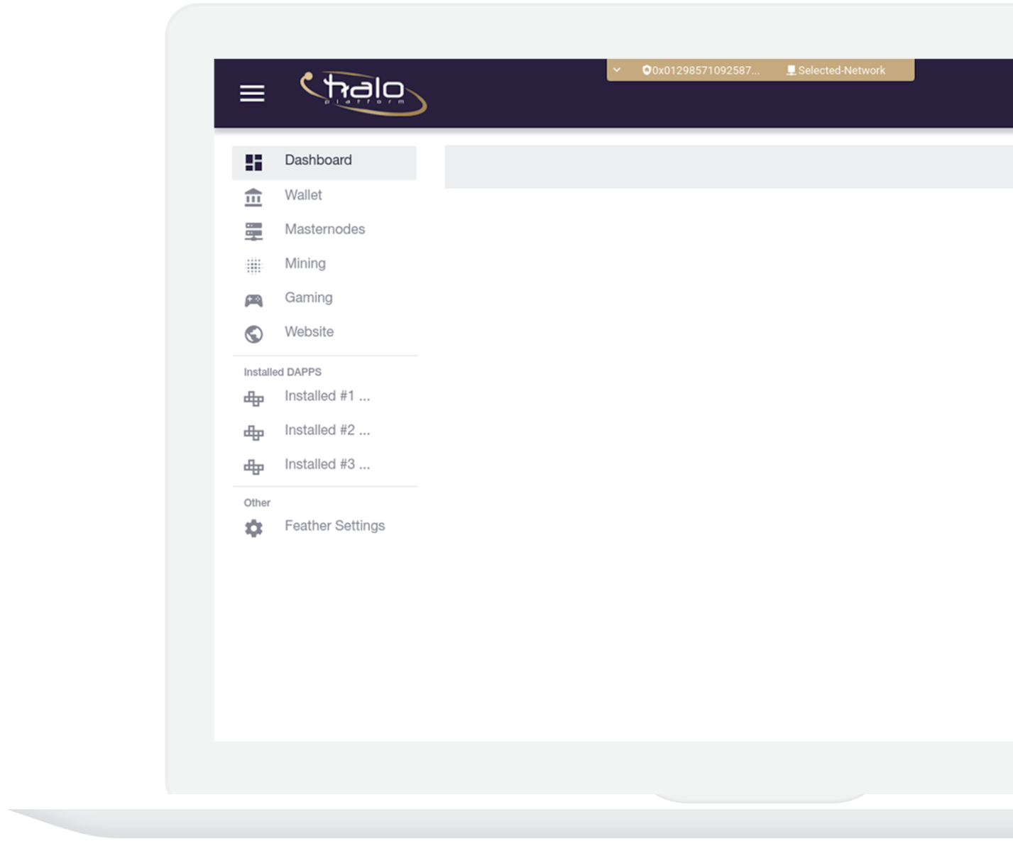 screenshot of the halo platform